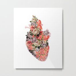 heal your heart white version Metal Print