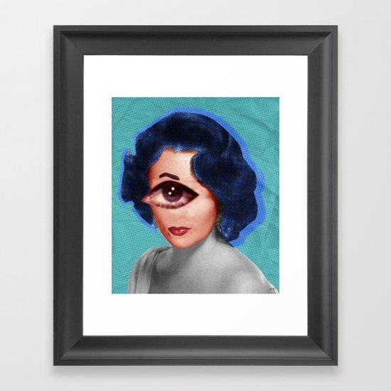 LizT Mix Collage 3 Framed Art Print