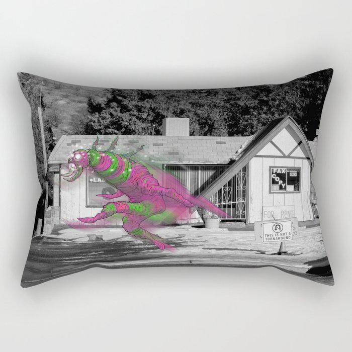 Unseen Monsters of Mount Shasta - Blisschoo Mildork Rectangular Pillow