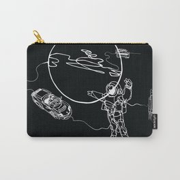 Astronaut in spacesuit, planet, spacecraft, car, cabriolet in space Carry-All Pouch