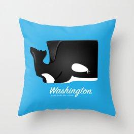 The Washington Whale Throw Pillow