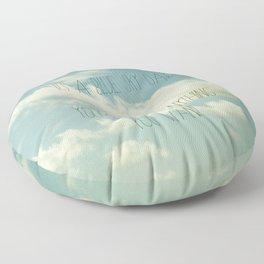 Its A Blue Sky Day Design  Floor Pillow