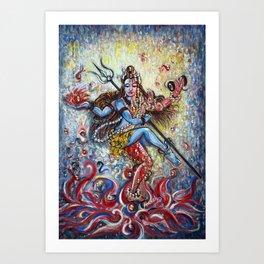 Shiva Shakti Art Print