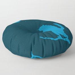 Sleepwalker. Cat illustration Floor Pillow
