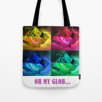 lumpy space princess Tote Bags featuring Lumpy Space Princess by Mazuki Arts