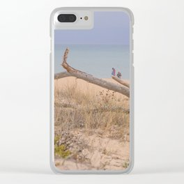 Old branch beach Clear iPhone Case