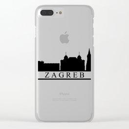 zagreb skyline Clear iPhone Case