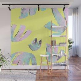 flora pattern no.1 / bright yellow Wall Mural