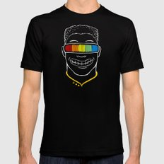 Seeing Rainbow Black Mens Fitted Tee X-LARGE