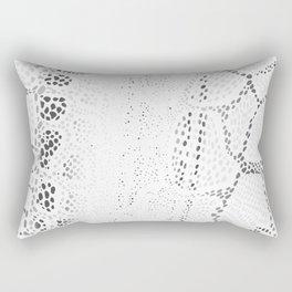 White Snake Skin Rectangular Pillow