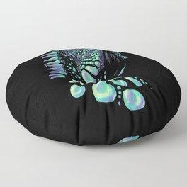 Iguana black Floor Pillow