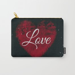 """Decorative """"Love"""" Heart Design Carry-All Pouch"""