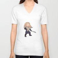 fili V-neck T-shirts featuring fili by Ronnie