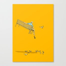 FLOAT - With the pigeons Canvas Print