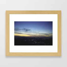 Boise Sunset Framed Art Print