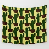 cactus Wall Tapestries featuring Cactus by Alisa Galitsyna