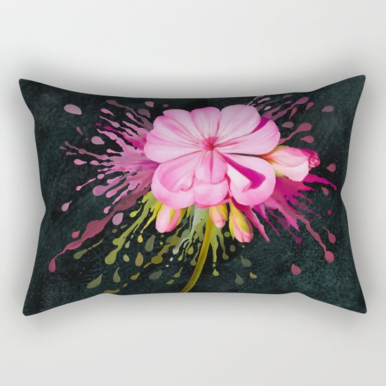 Color Eruption On Distressed Dark Rectangular Pillow