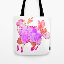 Fizzy Purple Sheep Tote Bag