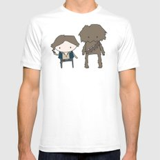 Han Solo & Chewie Mens Fitted Tee MEDIUM White