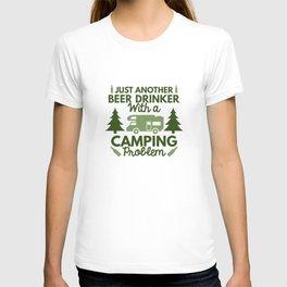 Beer Drinker Camping T-shirt