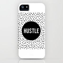 HUSTLE MODERN ART, Hustle Hard,Hustle Fashion Print,Hustle Decor,Motivational Quote,Office Decor,Dal iPhone Case