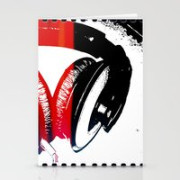 headphones Stationery Cards featuring Headphones by Derek Fleener
