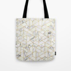 Marble hexagonal pattern Tote Bag