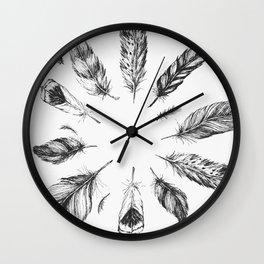 circulo de plumas Wall Clock