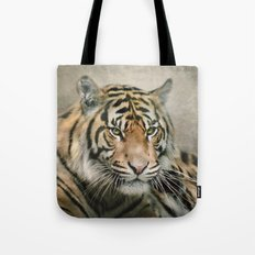 Tiger looking Tote Bag