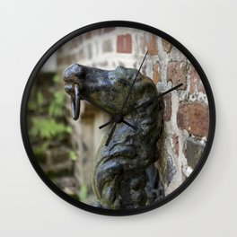 Charleston Hitching Post Wall Clock