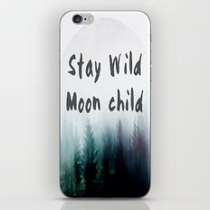 Stay wild moon child watercolor iPhone & iPod Skin