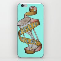 forever young iPhone & iPod Skins featuring Forever Young by Blasto17