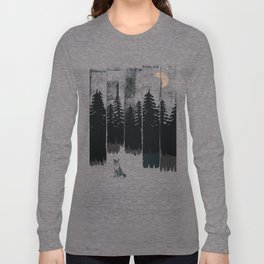 A Fox in the Wild Night... Long Sleeve T-shirt