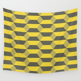 Geometric Gold Wall Tapestry