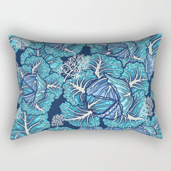 blue winter cabbage Rectangular Pillow