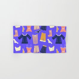 Colorful hanging clothes seamless pattern. Creative and modern graphic design. Vibrant colors. Hand & Bath Towel