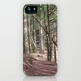 SHADOWS ON A WOODLAND PATH iPhone Case