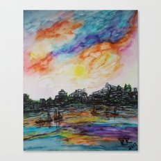 WAtercolor City Canvas Print