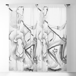 Don Quijote and sheeps Blackout Curtain