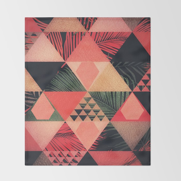 Abstract Art | Living Coral 1.0 Throw Blanket