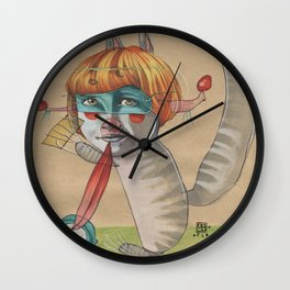 CAT CLOWN Wall Clock