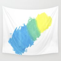 water color Wall Tapestries featuring Water Color by Kimberly Jones