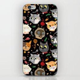 Neighborhood Cats in Black iPhone Skin