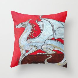 Scorched. Dragon Throw Pillow