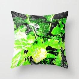 L'oiseau sur le choux Throw Pillow