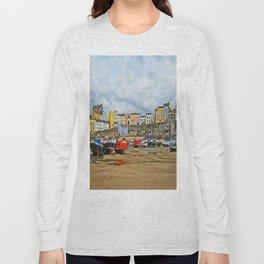 Tenby Harbour . Sunlight. Pembrokeshire. Wales. Long Sleeve T-shirt
