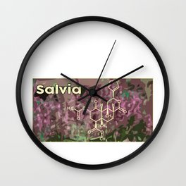 Drug Drugs Molecular Chain Gift Idea Wall Clock