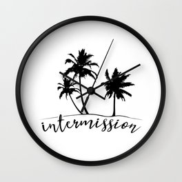 Intermission - On Holiday with Palm Trees Wall Clock