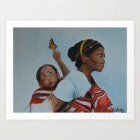 ifugao mother and child Art Print