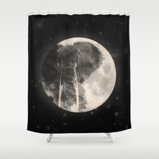 The Elephant in The Moon Shower Curtain